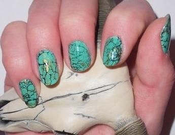 Turquoise Stone Nail Artom Good As Gold Living